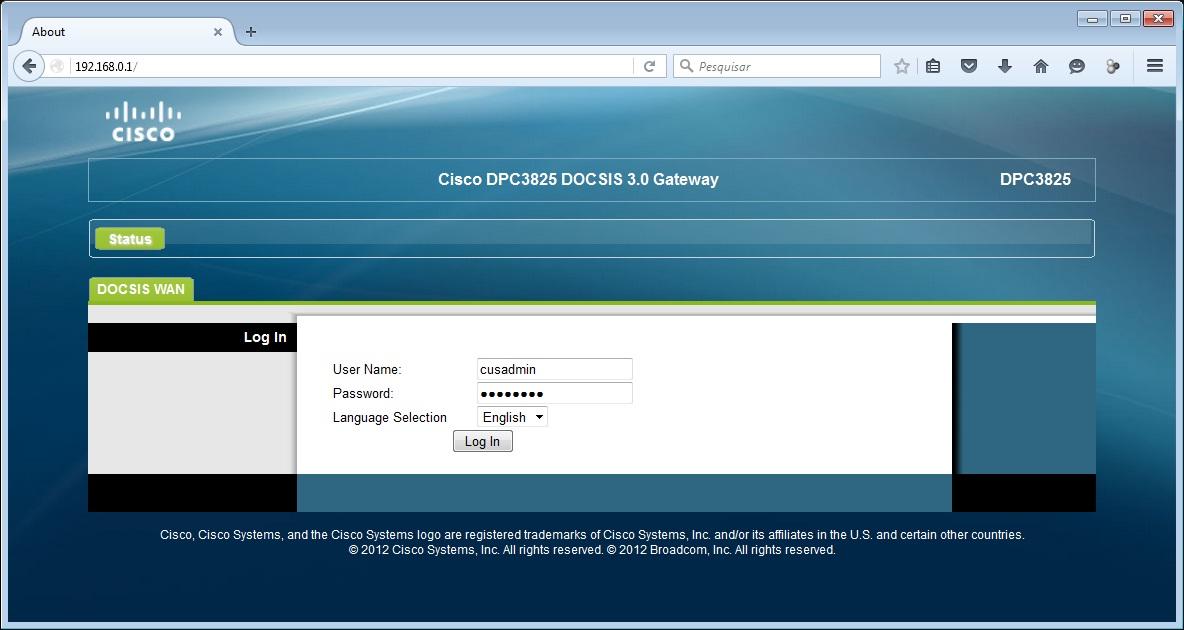 Cisco DPC3825 DOCSIS 3.0 Gateway
