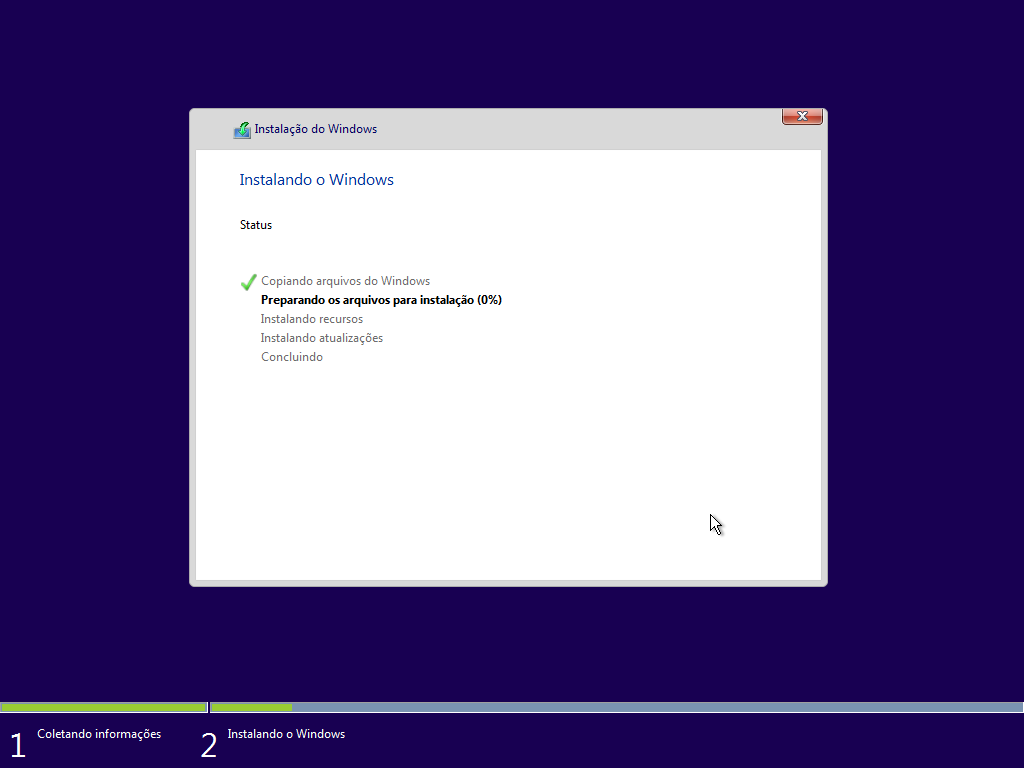 Windows 10 Pro - Instalação