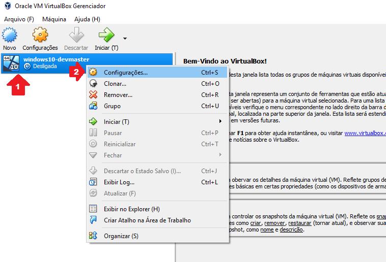 Windows 10 Pro - VirtualBox